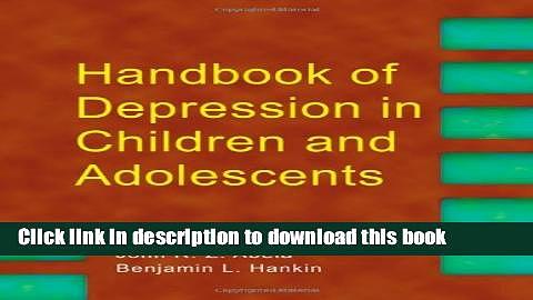 Books Handbook of Depression in Children and Adolescents Free Book