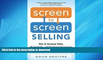 FAVORIT BOOK Screen to Screen Selling: How to Increase Sales, Productivity, and Customer