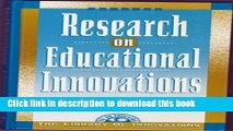 [Fresh] Research on Educational Innovations (Library of Innovations Series) Online Books