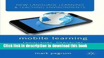 [Fresh] Mobile Learning: Languages, Literacies and Cultures (New Language Learning and Teaching