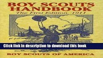 Download Boy Scouts Handbook: The First Edition, 1911 [Free Books]