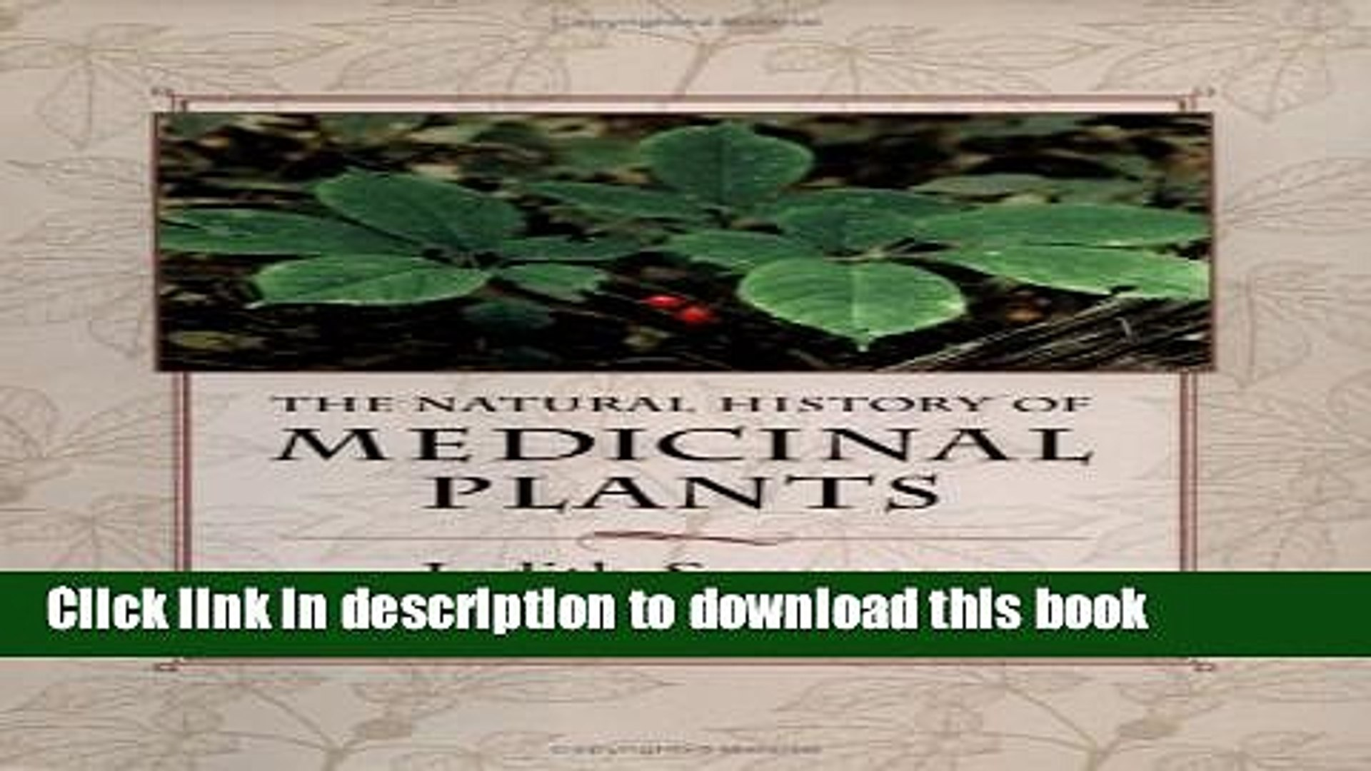 [PDF] The Natural History of Medicinal Plants [Full Ebook]