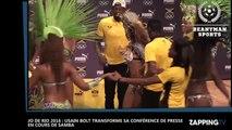 JO de Rio 2016 : Usain Bolt danse la samba en conférence de presse