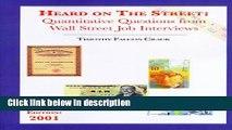 [PDF] Heard on the Street: Quantitative Questions from Wall Street Job Interviews Ebook Online