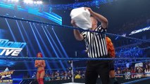 Eva Marie has a wardrobe malfunction before her match vs. Becky Lynch SmackDown Live, Aug. 9, 2016