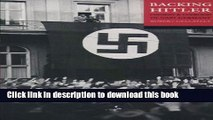 [Popular] Books Backing Hitler: Consent and Coercion in Nazi Germany Free Online