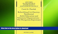 DOWNLOAD Rebuilding Civil Society: Nonformal Adult Education and Voluntary Organizations - The