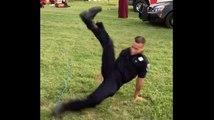 Un policier en service se met à danser le hip-hop comme un boss