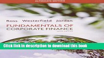 [Download] Fundamentals of Corporate Finance Alternate Edition Hardcover Collection