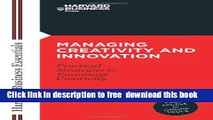 Must Have PDF Managing Creativity and Innovation (Harvard
