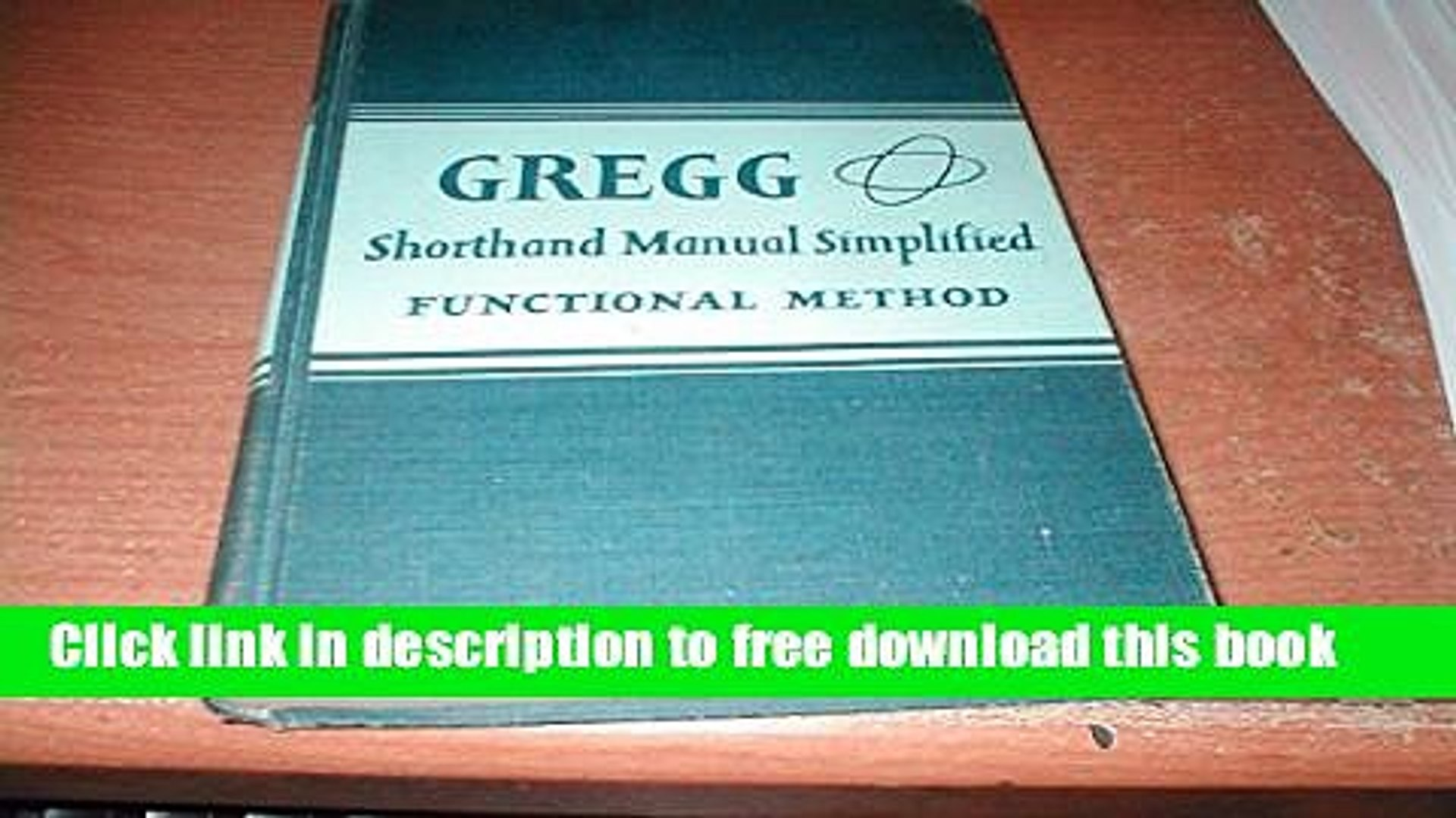 gregg shorthand book free download