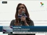 Expresidenta argentina inaugura estudio de televisión en la villa 31
