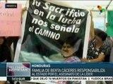 Honduras: asesinato de Berta Cáceres continúa en la impunidad