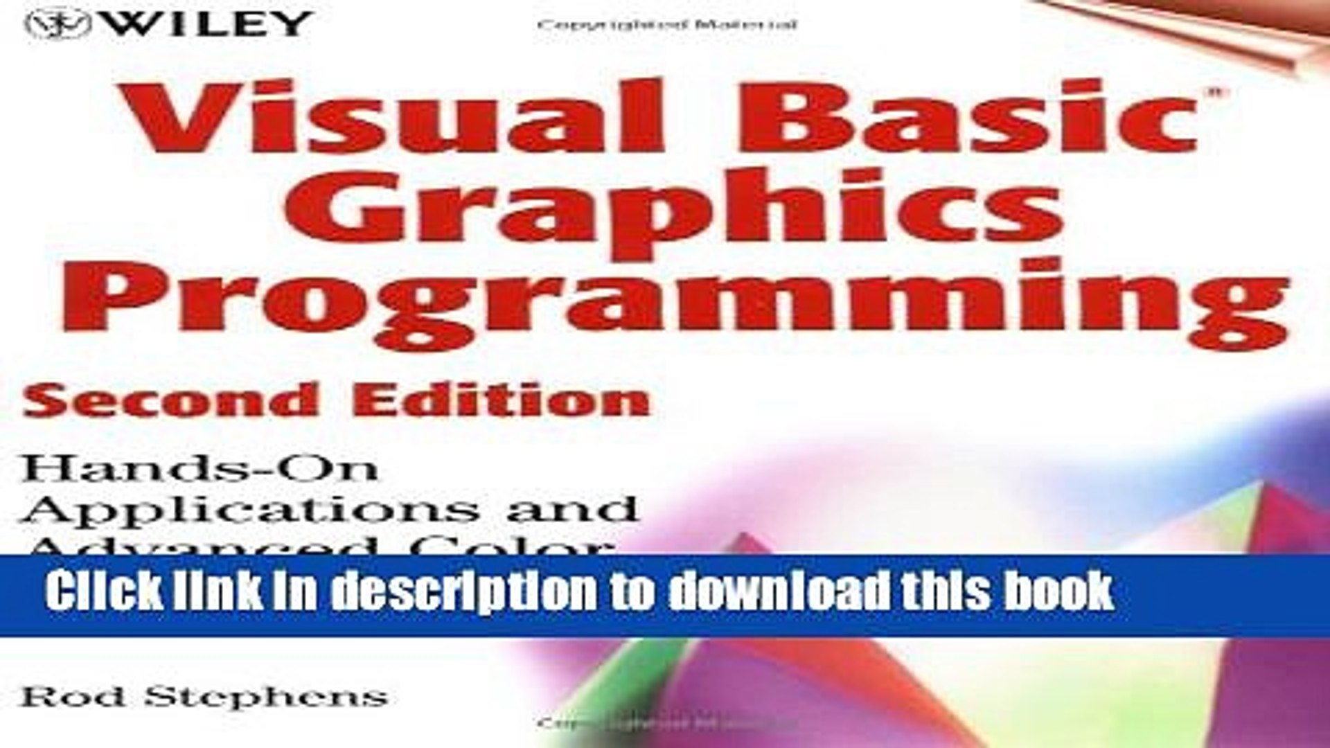 [Download] Visual Basic Graphics Programming: Hands-On Applications and  Advanced Color Development