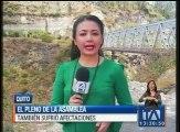 El antiguo puente sobre el río Chiche es evaluado antes de su reapertura