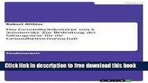[Download] Das Gesundheitskonzept von A. Antonovsky. Zur Bedeutung der Salutogenese für die