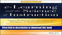 [Popular] e-Learning and the Science of Instruction: Proven Guidelines for Consumers and Designers