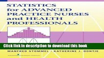 [Download] Statistics for Advanced Practice Nurses and Health Professionals Hardcover Collection