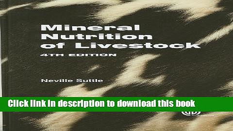 [Download] Mineral Nutrition of Livestock Hardcover Online