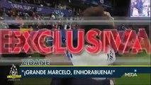 La celebración de Zinedine Zidane con los jugadores tras ganar la supercopa de