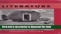 [Download] McDougal Littell Literature: Teacher Edition Grade 7 2008 Kindle Collection