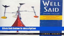 [PDF] Well Said Text/Audio CD Package: Pronunciation for Clear Communication Book Online