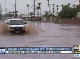 Apache Junction dealing with extreme downpour