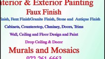 Decor & Drop Ceiling & Interior and Exterior Painting & Faux Finish & Mural & Mosaic
