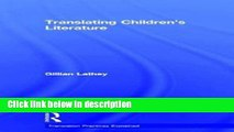 Books Translating Children s Literature (Translation Practices Explained) Free Online