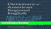 Books Dictionary of American Regional English: Volume 2: D-H Full Online