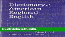 Ebook Dictionary of American Regional English, Volume I: Introduction and A-C Free Online