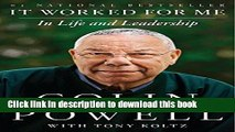 [Download] It Worked for Me: In Life and Leadership Hardcover Collection