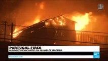 Portugal fires: hundreds evacuated on island of Madeira