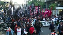 Argentina protests : demonstrators take to the streets demanding wage increase