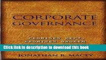 [Popular] Corporate Governance: Promises Kept, Promises Broken Hardcover Collection