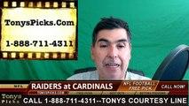 Arizona Cardinals vs. Oakland Raiders Free Pick Prediction NFL Pro Football Odds Preview 8-12-2016