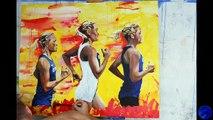 Karl Markus Antson's paintings of Estonian olympic athletes: Luik sisters, Estonian marathoners