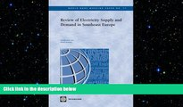 READ book  Review of Electricity Supply and Demand in Southeast Europe (World Bank Working