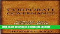 [Popular] Corporate Governance: Promises Kept, Promises Broken Kindle Online