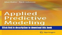 [Popular] Applied Predictive Modeling Paperback Free