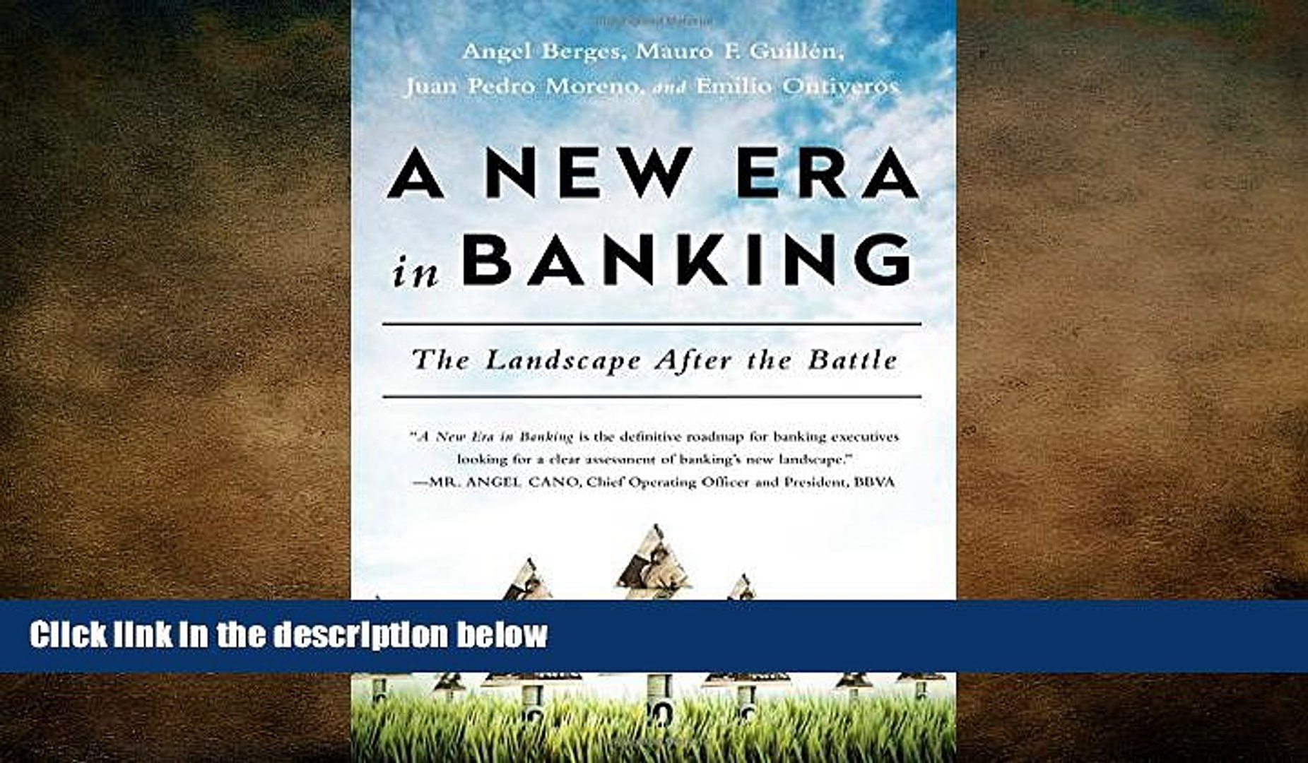 FREE PDF  A New Era in Banking: The Landscape After the Battle  FREE BOOOK ONLINE
