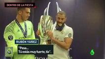 Así fue la celebración de Real Madrid en el vestuario tras ganar la Supercopa de Europa
