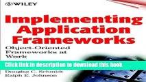 [Popular] Implementing Application Frameworks: Object-Oriented Frameworks at Work Paperback Free