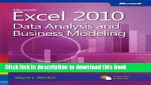 [Download] Microsoft Excel 2010 Data Analysis and Business Modeling (Business Skills) Kindle Online