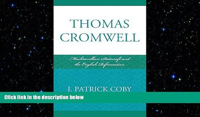 different   Thomas Cromwell: Machiavellian Statecraft and the English Reformation