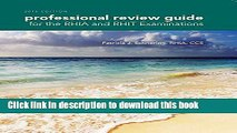 [Popular] Professional Review Guide for the Rhia and Rhit Examinations, 2016 Edition (Book Only)