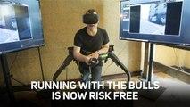 VR Running of the Bulls! A fearful thrillseekers dream