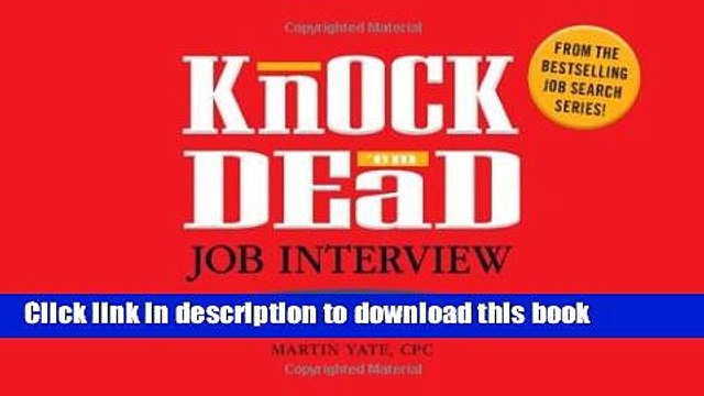 [PDF] Knock  em Dead Job Interview Flash Cards: 300 Questions   Answers to Help You Land Your