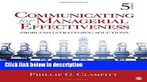Books Communicating for Managerial Effectiveness: Problems | Strategies | Solutions Full Online
