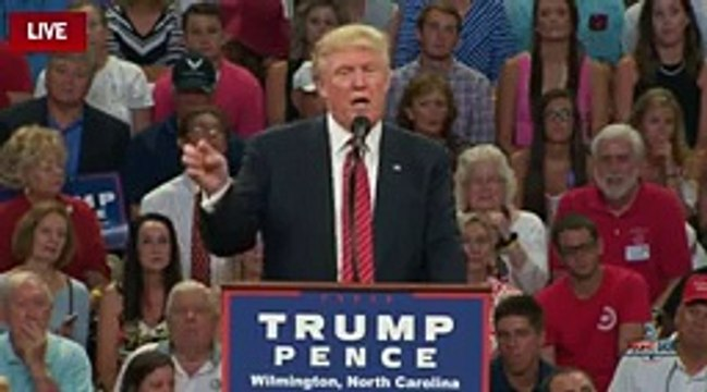Donald Trump on Hillary Clinton, Wilmington, NC, 8 9 16